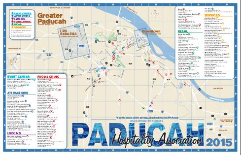 map of paducah kentucky Paducah Visitors Map Barkley Regional Airport map of paducah kentucky